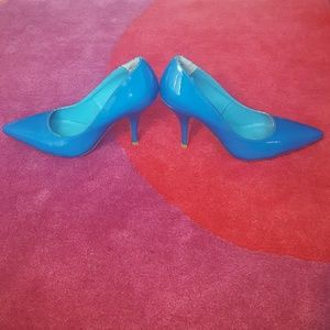 """2 Lips Too Shoes - 2LipsTwo blue heels size 8-1/2"""""""